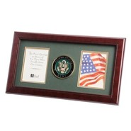 "Army Medallion Double 4x6"" Photo 10x18"" Frame"
