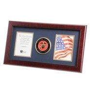 "Marine Medallion Double 4x6"" Photo 10x18"" Frame"