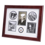 "Navy Medallion 5 Photo Collage 13x16"" Frame"