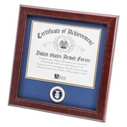 "Air Force Medallion 8x10"" Certificate 14x14"" Frame"