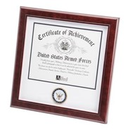 """Navy Medallion 8x10"""" Certificate 14x14"""" Frame"""