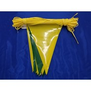 100' String Pennant Green-Yellow