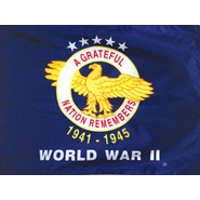 4x6in Mounted WWII Veterans Flag