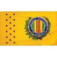 4x6in Mounted Vietnam War Veterans Flag