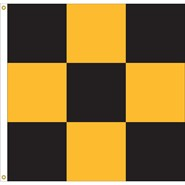 9 Checker 3x3' Flag