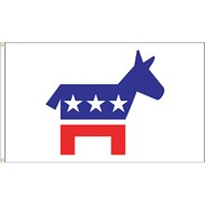 Democratic Donkey 3x5' Flag