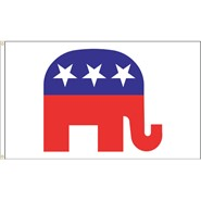 Republican Elephant 3x5' Flag