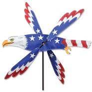 Patriotic Eagle 25in Whirligig