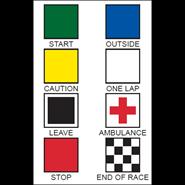 Motorcycle Racing Flag Set 30x30in