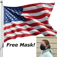 Free Mask with Nylon Flag