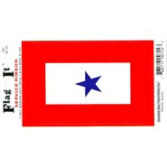 Service Star Decal 3.5x5in