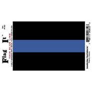 Thin Blue Line Decal 3.5x5in