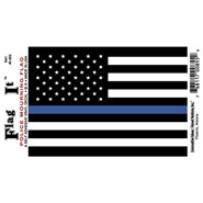 Thin Blue Line U.S. Decal 3.5x5in