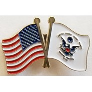 Coast Guard Flag U.S. Flag Double Pin