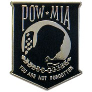 POW-MIA Shield Pin