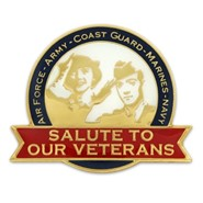 Salute to Veterans Pin