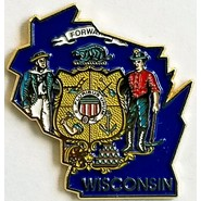 Wisconsin State Pin