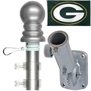 Green Bay Packers 3x5ft Spinning Flagpole Set