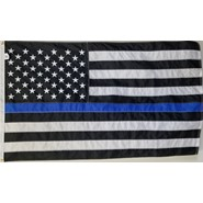 Thin Blue Line U.S. 3x5' Flag
