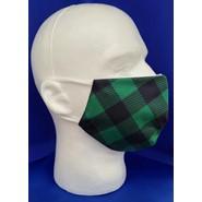 Green Buffalo Plaid Face Mask