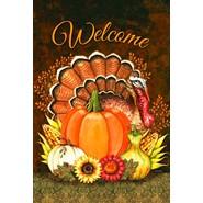 Harvest Turkey 12x18in Garden Flag