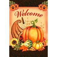 Welcome Cornucopia 28x40in House Flag