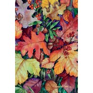 Fallen Leaves 28x40in House Flag