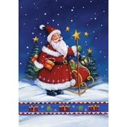 Santa's Night 12x18in Garden Flag