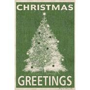 Christmas Greetings 12x18in Garden Flag