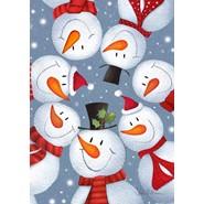 Snowman Selfie 12x18 Garden Flag