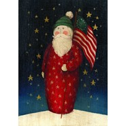 Flag Waving Santa 28x40in House Flag