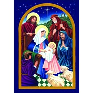 Nativity Night 28x40in House Flag