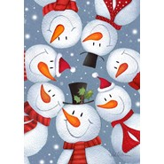 Snowman Selfie 28x40in House Flag