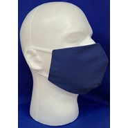 Solid Navy Face Mask