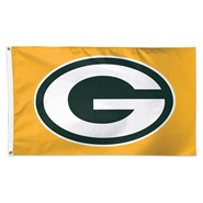 Green Bay Packers on Gold 3x5ft Flag