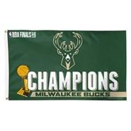 Milwaukee Bucks Champions 3x5ft Flag