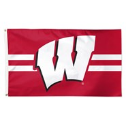 Wisconsin Univ Stripes 3x5ft Flag