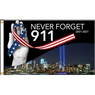 Never Forget 911 3x5' Flag
