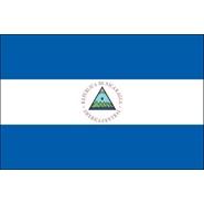Nicaragua with Seal Nylon Flag