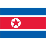 North Korea Nylon Flag