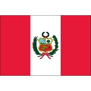 Peru with Seal Nylon Flag