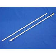 Two-Piece Aluminum Flagpole 6ft x 3/4in