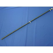Black Fiberglass Flagpole 6ft x 1in