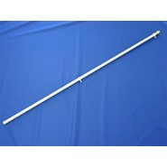 White Fiberglass Flagpole 6ft x 1in