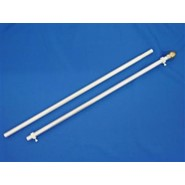 Two-Piece Aluminum Flagpole 6ft x 1in