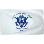 Coast Guard Light Weight Polyester Flag