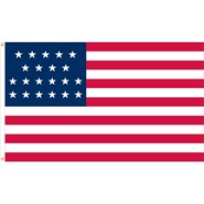 U.S. 21 Star Historical Flag