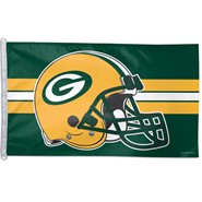 Green Bay Packers (New Helmet) 3x5ft Flag