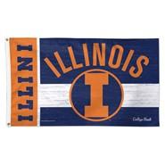 Illinois Univ 3x5ft Flag