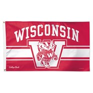 Wisconsin Univ (retro) 3x5ft Flag